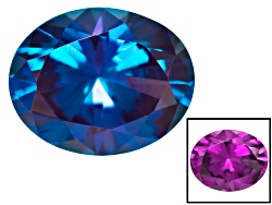 AX009<br>Lab Created Russian Color Change Alexandrite Minimum 2.50ct 10x8mm Oval