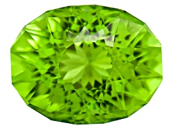 PEV039<br>Minimum 3.00ct 10x8mm Oval Sunglitz Cut(Tm) Chinese Peridot