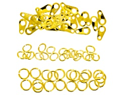 JSKIT0082A<br>Gold Color Chain Kit Contains 15 Meters Of Chain 60 Jump Rings 50 Tags And 25 Lobster