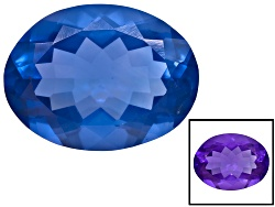 FLV286<br>Chinese Blue Color Change Fluorite Avg 20.00ct 20x15mm Oval