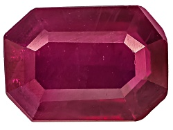 RBE068<br>Burmese Ruby Min .75ct 7x5mm Emerald Cut