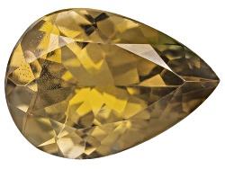 GZP011<br>Untreated Tanzanian Golden Zoisite Min 1.25ct 10x7mm Pear Shape