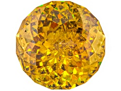 SFR829<br>Spanish Sphalerite 15.87ct 14.1mm Round Gemstone Cut By Egor Gavrilenko