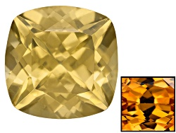 ZNC023<br>Tanzanian Yellow Zircon Avg 3.00ct 8mm Square Cushion Caution:heat Sensitive