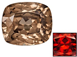 ZNC005<br>Nigerian Thermochromic Zircon Min 1.50ct Mm Varies Cushion Color Varies Caution:heat Sensi