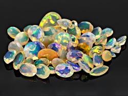 GP6211<br>Ethiopian Opal Parcel Of 20.00ctw Mm Varies Mixed Shape