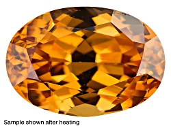 ZNR119<br>Tanzanian Yellow Zircon Min 1.90ct 7.5mm Round Color Varies Caution:heat Sensitive
