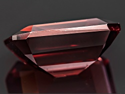 OBG016<br>Tanzanian Red Zircon Min 8.00ct 12x10mm Emerald Cut