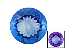 FL103<br>Color Change Blue Fluorite Minimum 22.25ct 18mm Round Mixed Cut