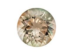 SN160<br>Bi-color Pastel Oregon Sunstone From Butte Mine 1.40ct Minimum 8mm Round Mixed Cut Color Va