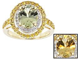 ZUL035<br>2.20ct Zultanite(R) With .70ctw Yellow Sapphire And .11ctw Round White Diamond 14k Gold Ri