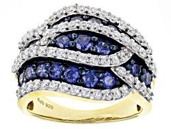 BJQ018<br>Bella Luce (R) 3.16ctw Lab Created Sapphire & White Diamond Simulant Round Eterno (Tm) Yel