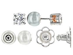 MCB004<br>Michael O' Connor For Bella Luce(R) Diamond & Pearl Simulants  Sterling Silver & Eterno(Tm