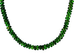 Chrome diopside necklaces shop online jtv approximately 5000ctw russian chrome diopside 14k yellow gold bead necklace aloadofball Images